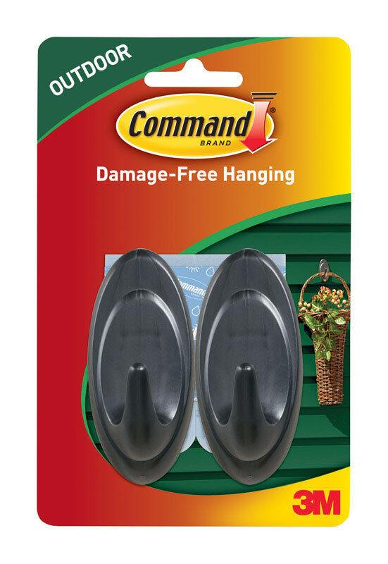 Two Pks Command Outdoor Terrace Hooks --  Two Hooks Each Pk