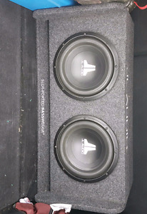 2 10 inch jl audio subwoofer with ported box