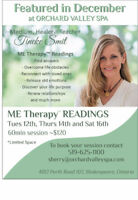 Spiritual Reading at Orchard Valley Spa Shakespeare Dec 12,14,16