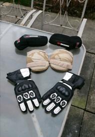 Motorbike, Enduro, Motocross, Elbow, knee pads & Gloves