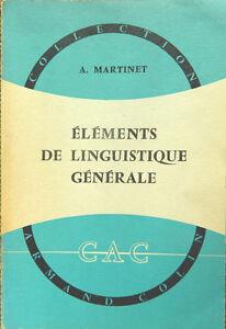 Éléments de linguistique générale