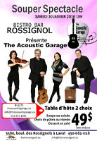 Souper Spectacle le 30 Janvier 2016 The Acoustic Garage band