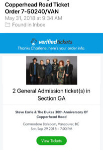 Steve Earle concert tickets The Commodore Ballroom in Vancouver