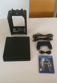 Playstation 4 PS4 Slim + Controller, Game & Numskull Charge Tower