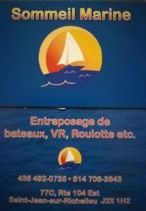 Entreposage de bateau-vr-roulotte
