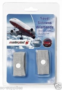 2 X ANTI NAUSEA MORNING SICKNESS MOTION TRAVEL SICK WRIST BANDS CAR SEA PLANE