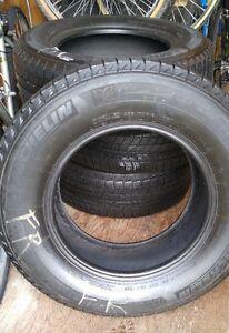 4 Pneux Hiver -Winter Tires -Michelin Latitude X-Ice -Usure 7/32