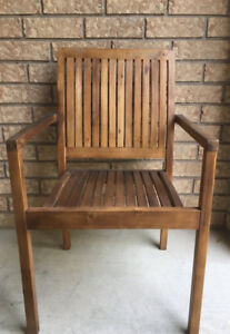 New D.O.T. Patio Teak Chairs x 4 Excellent Condition.