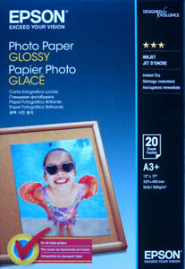 "Photo Paper Glossy, 13"" x 19"", 20 sheets"