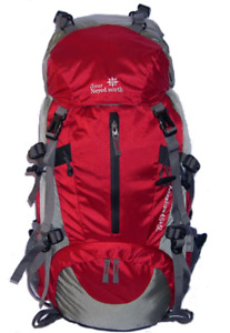 55L+5L Hiking Packs 4 colors red