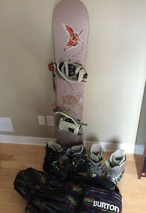 Complete snowboard package - female