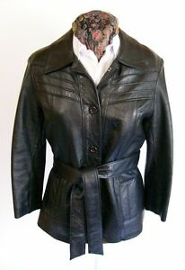 Veste en Cuir Vintage - APACHE - Vintage Women's Leather Jacket