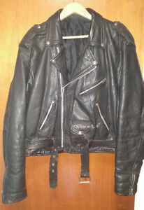 vintage bikers leather jacket