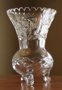 Bohemian Pinwheel Crystal Vase - MINT condition. Never used.