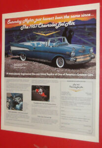 1990 DANBURY MINT AD - 1957 CHEVY BEL AIR CONVERTIBLE MODEL