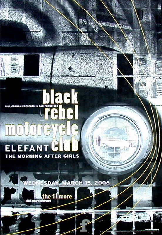 Black Rebel Motorcycle Club Elefant 2006 Fillmore SF F764 Poster Frank Wiedemann
