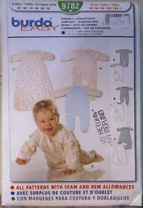 Sewing Pattern: Infants overall, jumpsuit and sleeping bag