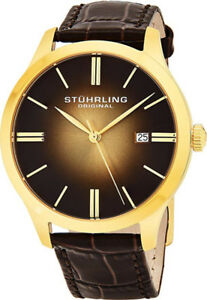 NEW Stuhrling Classic Cuvette II Men's Swiss Quartz Watch