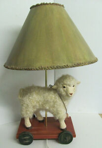 Adorable Wooly Lamb Lamp signed