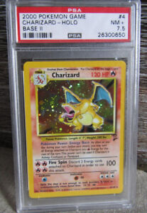 Charizard Pokemon card, year 2000 PSA graded
