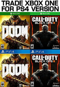 TRADE XBOX ONE FOR PS4 Black Ops 3, Doom