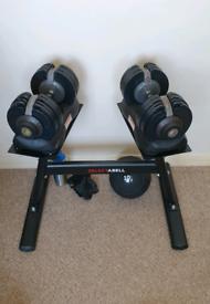 2x Bodymax Selectabell Adjustable Dumbbell dumbbells Set 5-32.5KG Pair