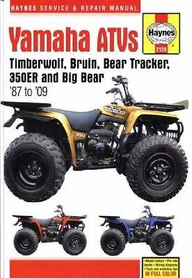 1987-2009 Yamaha Timberwolf Big Bear 250/350/400 Repair Service Shop Manual (2002 Yamaha Big Bear 400 Service Manual)