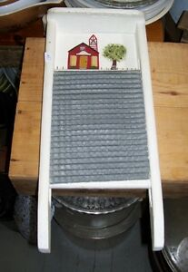 Tole Painted metal Washboard