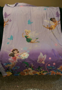 Tinker Bell curtains (2 panels) toddler bed comforter