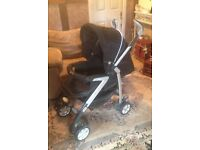 Silver Cross , pushchair and travel system