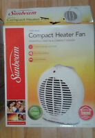 Sunbeam Compact Heater Fan for sale