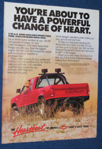 1988 CHEVY S-10 BAJA 4 X 4 PICKUP TRUCK AD - ANONCE RETRO CAMION