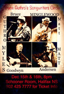 2 tickets for Bruce Guthro's Songwriter's Circle