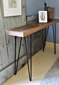 RUSTIC MODERN MINIMALIST HALL TABLE, CONTEMPORARY, HANDCRAFTED