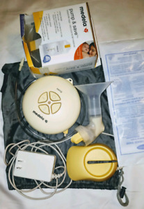 Medela swing breast pump comes with some milk storage bags