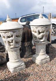 Large stone garden lantern pots urns and planters