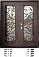 Californian Wrought %100 Iron Double Exterior /Entry DoorTR619