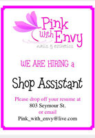 Full time shop assistant/reception