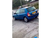 Clio 1.2 2002 8 Months Mot. Car is like new. 4 new tyres & battery