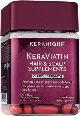 KeraViatin Hair Growth Scalp Health Supplement, Clinical Strength   60 Soft gels