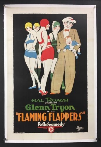 Flaming Flappers Original Movie Poster 1923 Wonderful Art    *Hollywood Posters*