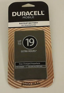 Duracell Portable Power Bank  Battery for Smartphones up to 19h