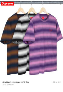 *BRAND NEW* Large Supreme Gradient Striped S /S Top (Black)