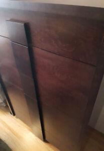 Dark hardwood bedroom dresser