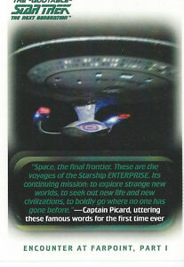 The Quotable Star Trek Next Generation Card Set (110)& Free Case
