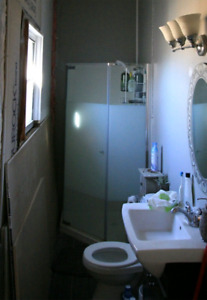 Tempered glass shower system