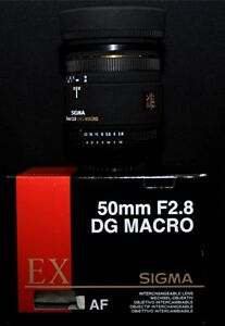 Sigma 50mm 2.8 Macro EX - Box caps filter mint condition.