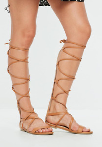 Missguided Gladiator Sandals Size 10