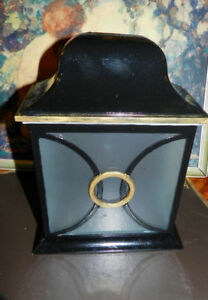 2 Fancy Black/Gold/Silver Victorian Style Porch Light Fixtures