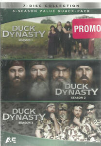 DVD DUCK DYNASTY - seasons 1 2 3  Widescreen Brand new sealed ++